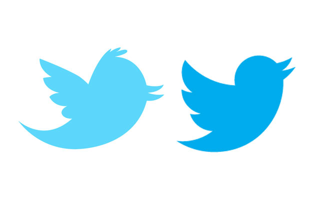 old and new Twitter bird logos