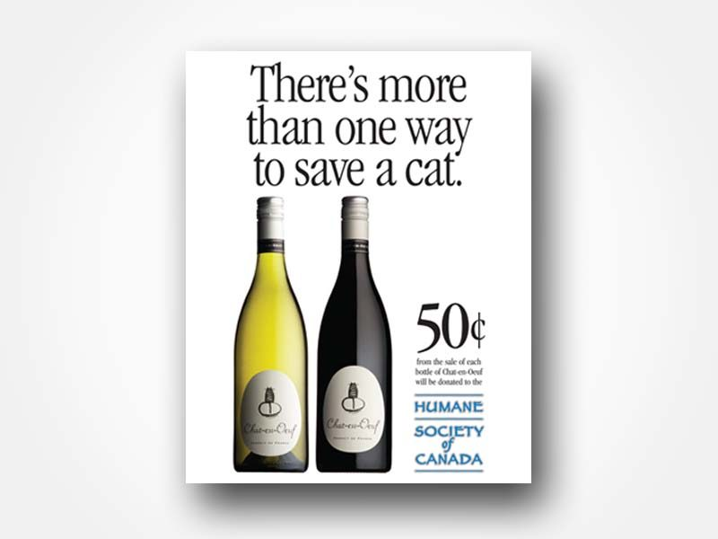 Chat-en-Oeuf Wine Ad