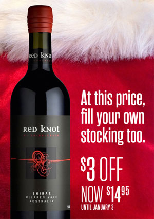 Red Knot Shiraz Holiday Wine Ad