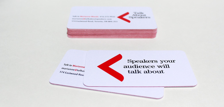 Image of Talk About Speakers branding