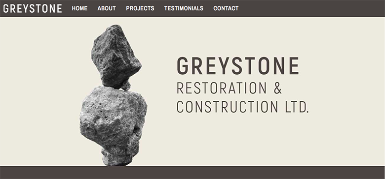 Greystone Website home page