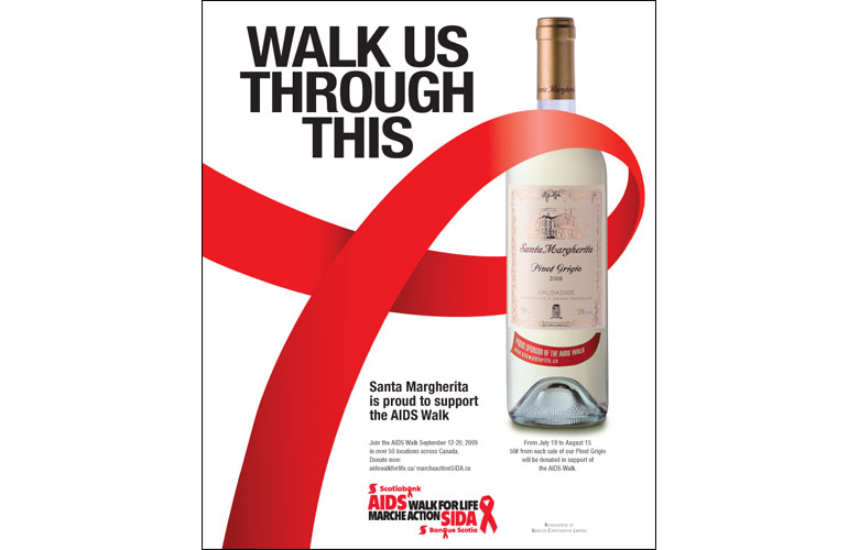 Santa Margherita AIDS Walk Ad