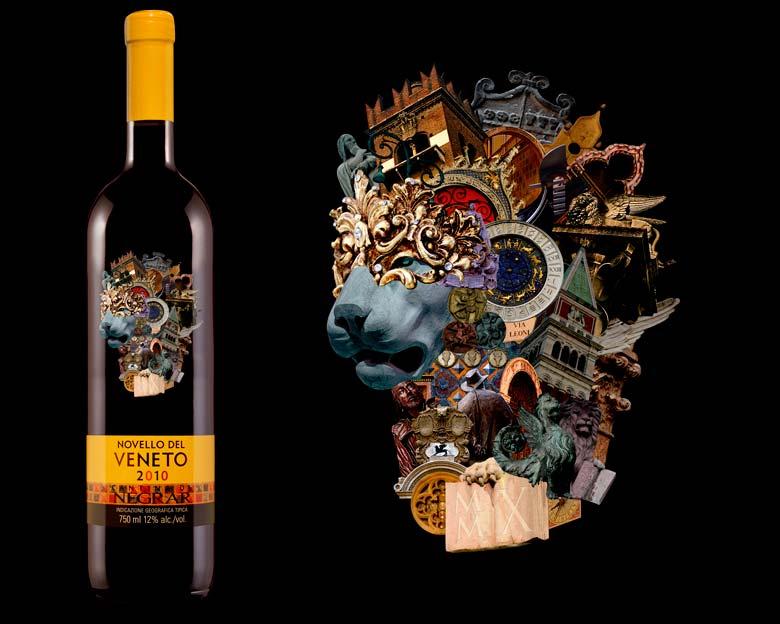 Novello del Veneto 2010 bottle and artwork