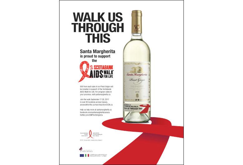 Santa Margherita Wine AIDS Walk Ad