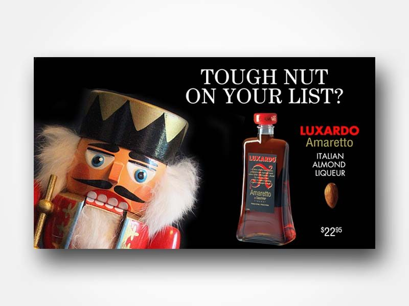 Luxardo Amaretto Nutcracker Holiday Ad