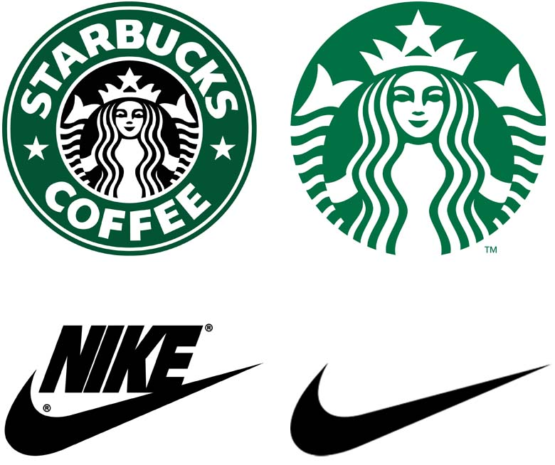 Starbucks and Nike Logo rebranding